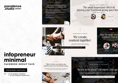 Infopreneur Minimal FB Group Pack