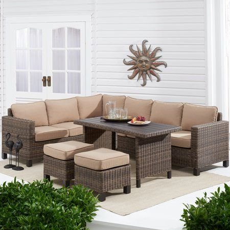 Better Homes & Gardens Brookbury 5-Piece Patio Wicker Sectional Set ...