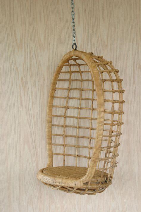 Egg Chair Riet.Vintage Children S Rattan Egg Chair Meubels Riet