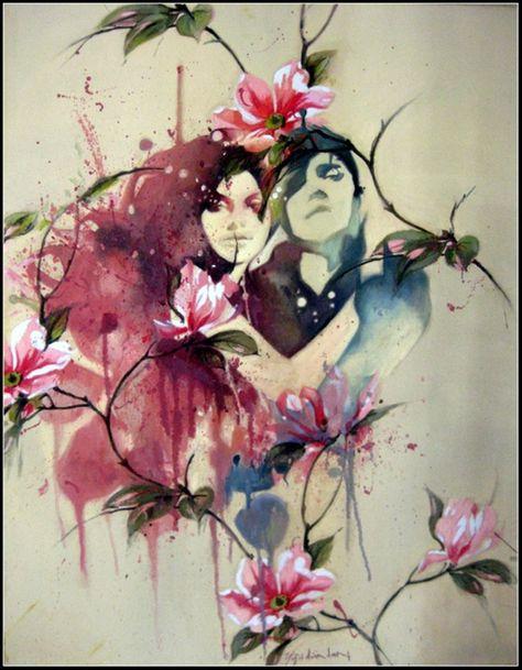 """Αποτέλεσμα εικόνας για lovers in painting pinterest"""""""