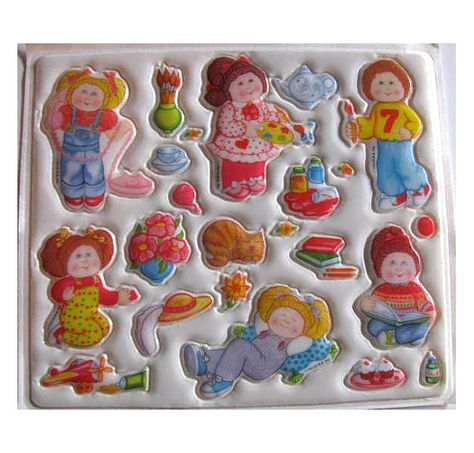 Cabbage Patch stickers!! Puffy stickers