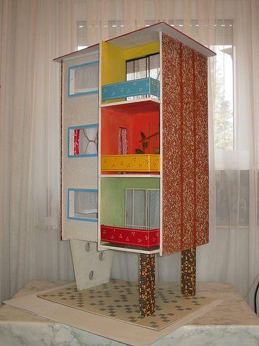 Puppenhaus DDR puppenhaus Pinterest Puppenmöbel, Ddr und 1960er - schlafzimmer mit bettüberbau
