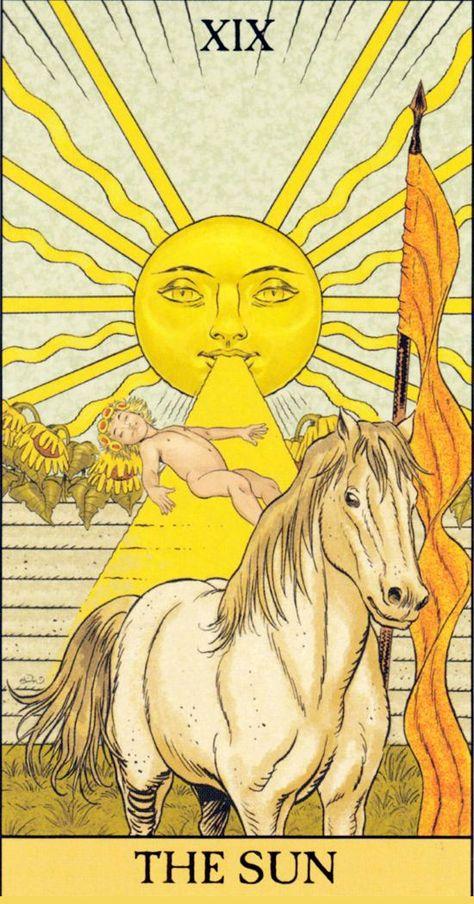 XIX. The Sun - Before Tarot (Simona Rosi Eon with P. Alligo, C. Kenner & F. Nativo)