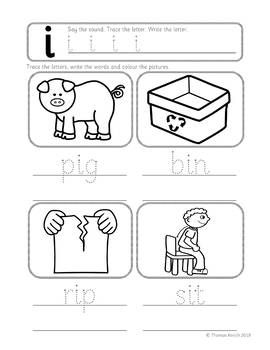 Phonics Worksheets Lesson Plan Flashcards Jolly Phonic Short I Worksheets Cvc Worksheets Phonics