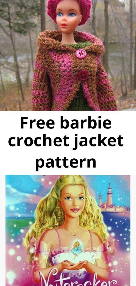 Free barbie crochet jacket pattern