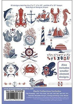 Nautical Anita Goodesign Embroidery Machine Design CD 231AGHD
