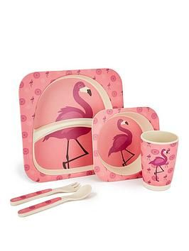 Flamingo Bamboo Fibre 5 Pc Dinner Set Dinner Sets One Color Biodegradable Products
