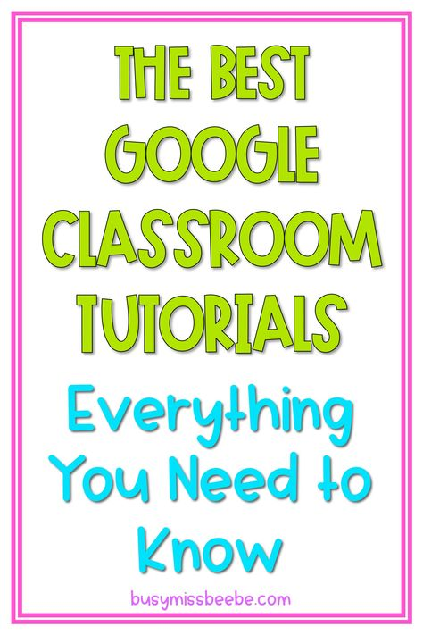 From getting started to creating self-grading assessments, these Google Classroom tutorials have got you covered! Middle School Writing, Middle School Classroom, Math Classroom, Classroom Playlist, High School, Maths, Google Classroom Tutorial, Ninth Grade, Seventh Grade
