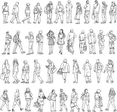People Outline Silhouettes Vector Png Images Backgrounds And Vectors For Free Download Freeicon Silhouette Vector Cartoon People People Illustration