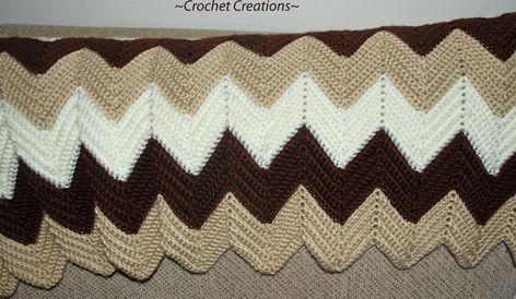 Amy's Crochet Creative Creations: Crochet Classic Ripple Afghan