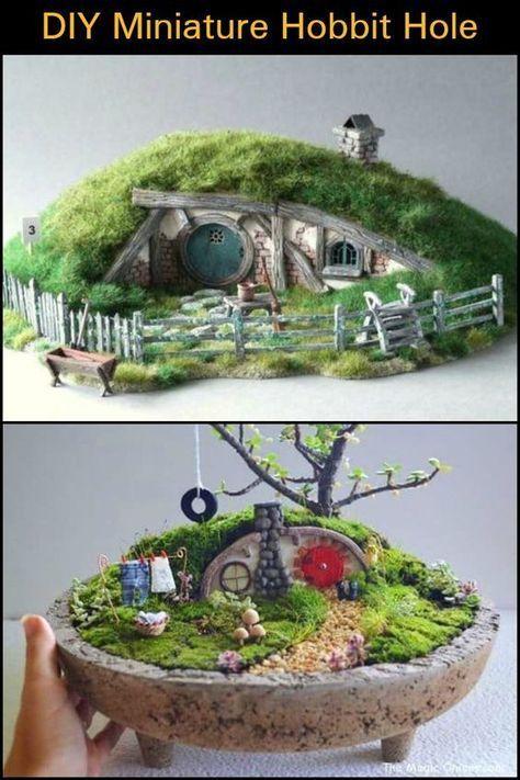 Diy Miniature Hobbit Hole Diy Feengarten Hobbit Garten Feenmobel