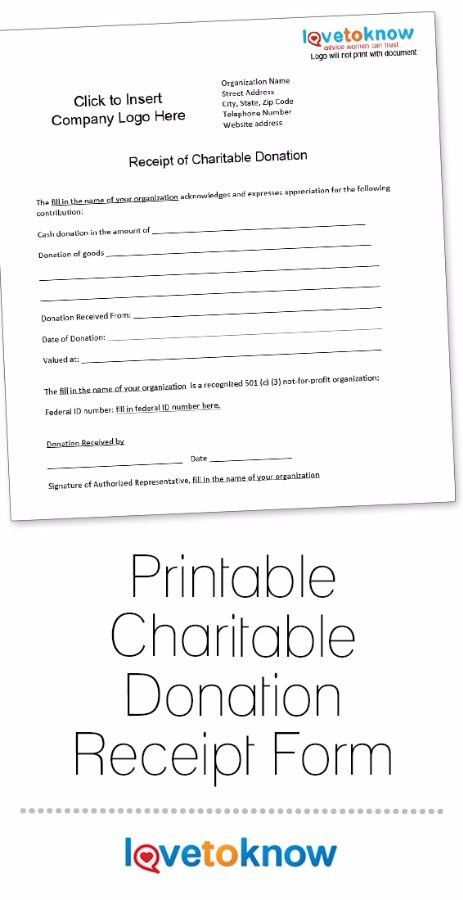 A Charitable Donation Receipt Provides Documentation To Those Who    Donation Slip Sample  Goods Received Note Format