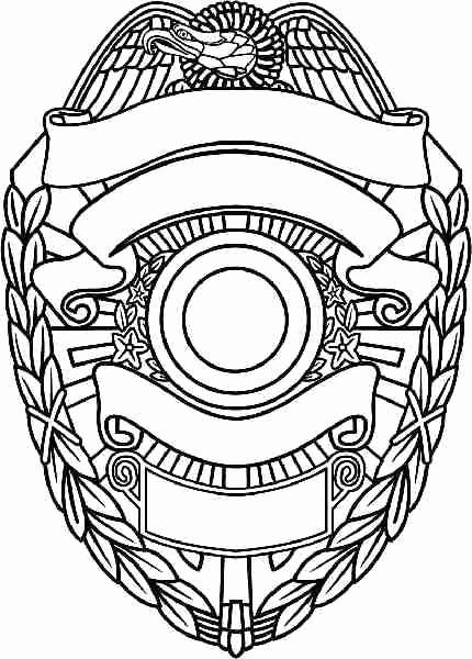 Police Badge Coloring Page Lovely Police Badge Template Coloring