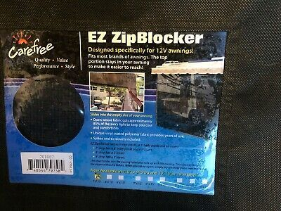 Details About Carefree 701007 Black 10 X 7 Drop Rv Awning Ez Zipblocker In 2020 Awning