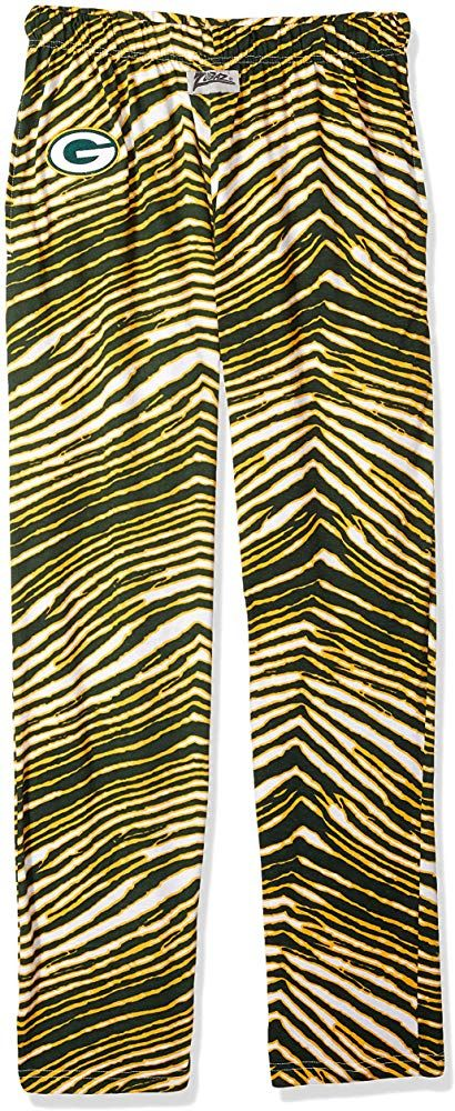 Zubaz Nfl Green Bay Packers Men S Classic Zebra Printed Athletic Lounge Pants Green Gold Large Printed Lounge Pants Lounge Pants Zebra Print