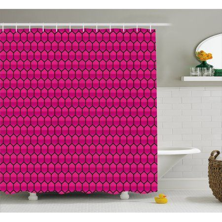 Pink Shower Curtain With Images Pink Shower Curtains Bathroom