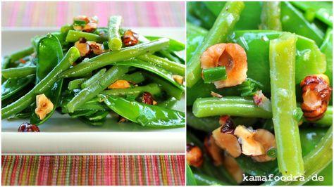 Salat Mit Zuckerschoten Grunen Bohnen Und Haselnussen Zuckerschoten Salat Mit Und Bohnen