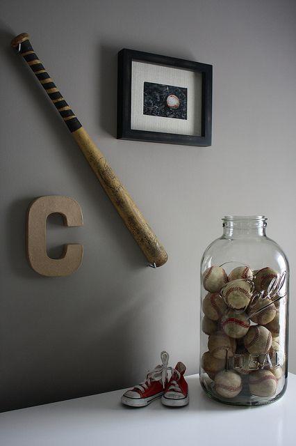 Dresser Area - The big mason jar of baseballs is my fave!