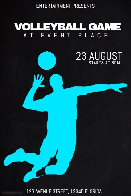 Band Flyer Template Event Poster Sport Poster Volleyball Games