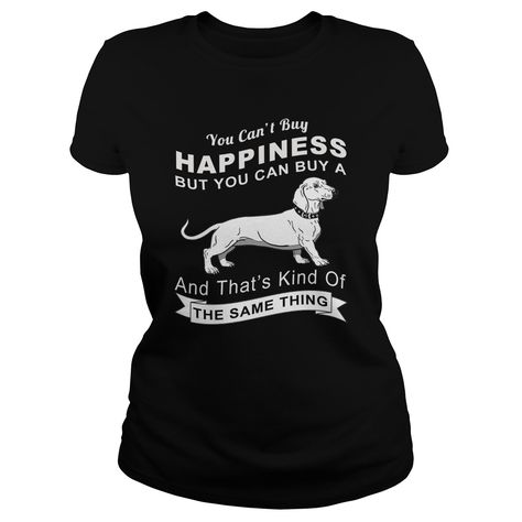 Happy With Dachshund Tee Shirts