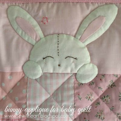 Bunny Applique For Baby Quilt Bunny Baby Quilt Baby Girl Quilts Baby Boy Quilts