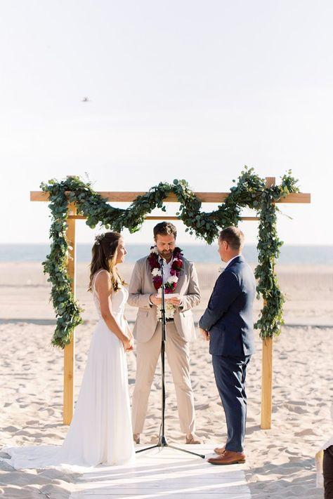 We just love seeing our #EddyKBride Claire at her beach wedding in style EK1243! #weddingdress #weddingdresses #weddingoutfit #bride #weddingdressdesigner #bridestyle #weddinggown #ALineWeddingDress #ALineWeddingGown #beachwedding #destinationwedding