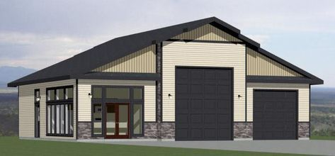 50x42 1 Car 1 Rv Garage 1 Br 1 Ba Pdf Floorplan 1 973 Sqft Model 1d Home Garden Home Impr With Images Garage Apartment Plans Garage House Plans Building A House
