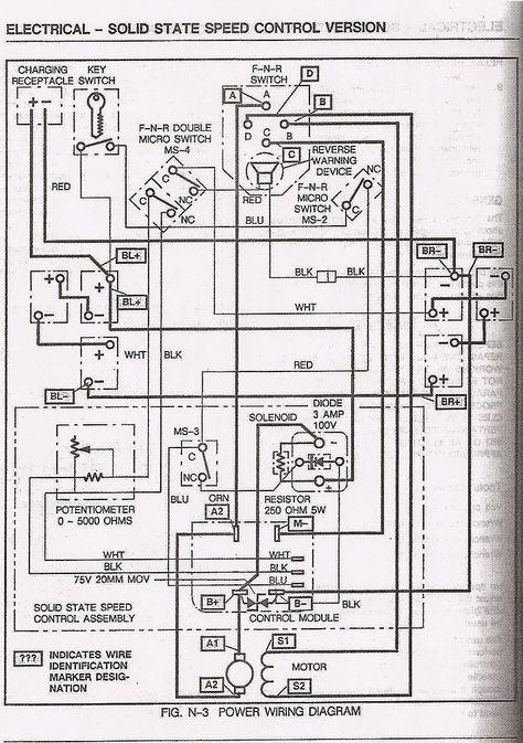 Club Cart Battery Wiring Diagram Pioneer Deh 2100ib Yamaha G2 Electric Golf Diagrams Pinterest Carts And