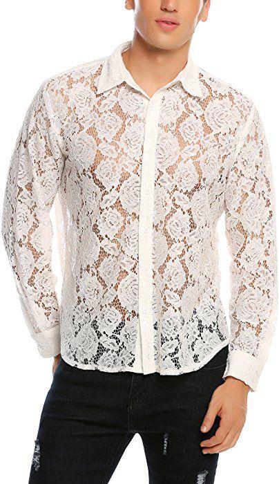 White Costume Shirt See By way of Undershirt
