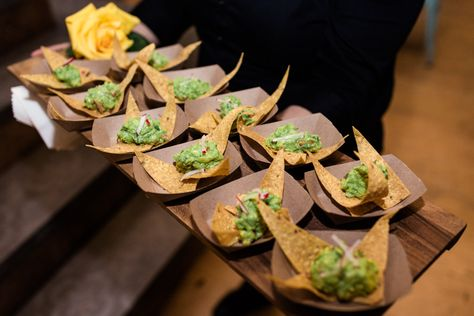 Guacamole appetizer tray at The Joinery Chicago wedding venue