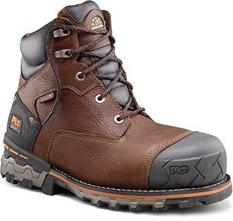 Hombre Endurance 6 Steel Toe EX Met Guard Industrial y zapato de construcci¨®n, Brown Full Grain Leather, 7 W US