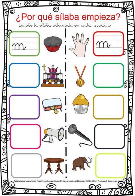 Escribe Por Que Silaba Empieza Por Ma Me Mi Mo Mu 4 Silabas Preescolar Material Didactico Aprender Silabas