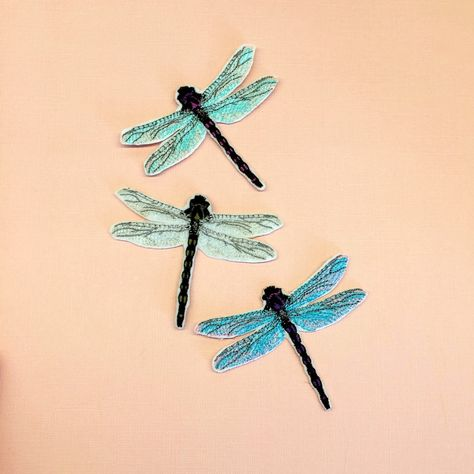 Dragonfly Patch Insect Brooch Embroidered Patch Insect Patch Animal Patch Applique Iron On Sew On DIY Patch Gifts For Her Personalized Gift by NadyaLOOK on Etsy