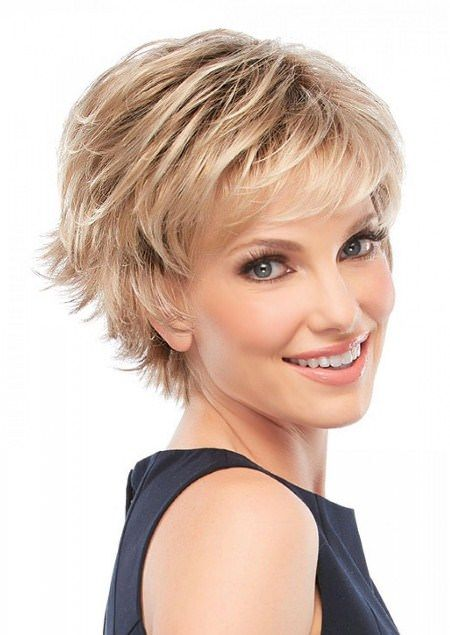 Wispy Layers Short Hairstyles For Fine Hair Short Hair Styles Short Shag Hairstyles Very Short Hair