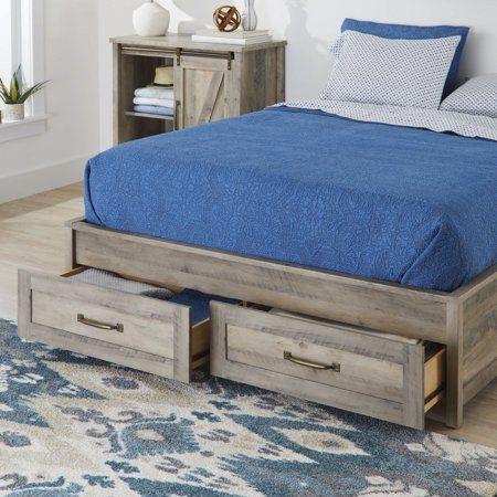 Home Platform Bed With Storage Queen Platform Bed Storage Bed