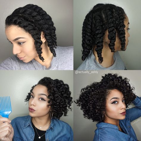 Chunky Flat Twist Out | Natural Hair