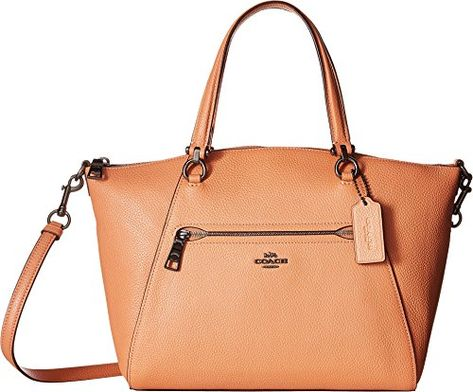 235.99 - COACH Womens Prairie Satchel in Polished Pebble Leather ... 823bb0b46a7d8