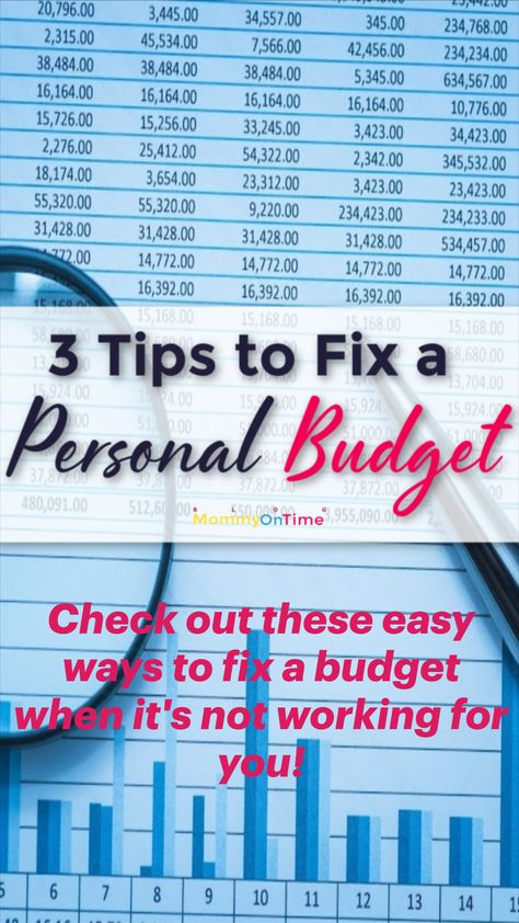 Check out these easy ways to fix a budget when it's not working for you!