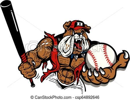 Bulldog Baseball Vector Stock Illustration Royalty Free Illustrations Stock Clip Art Icon Stock Clipart Icons Logo Line Baseball Vector Art Icon Bulldog