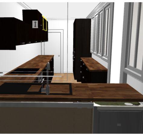 Projet Cuisine Ikea Avec Verrière Laxarby Et Plan De Travail