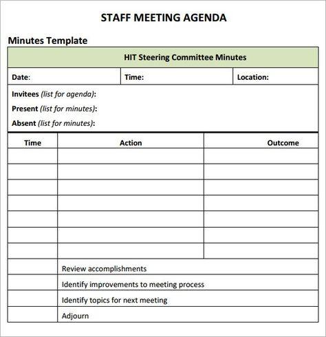 meeting agenda template 10 Agenda Pinterest Template - agendas templates