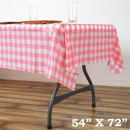 Balsacircle 54 X 72 Rectangular Checkered Disposable Plastic Tablecloths Party Picnic Table Covers Decorations Walmart Com Plastic Table Covers Picnic Table Covers Table Covers Wedding