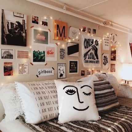 61 Ideas Bedroom Wall Decor Above Bed Cute Ideas Fairy Lights