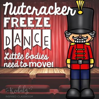 Nutcracker Freeze Dance (Brain Break and Movement Exploration) Your students will love freezing to these fun Nutcracker poses. Perfect for elementary music class, PE, or a classroom Christmas party. Movement Activities, Music Activities, Music Education Games, Music Classroom, Classroom Themes, Music Teachers, Freeze Dance, Teaching Music, Kindergarten Music