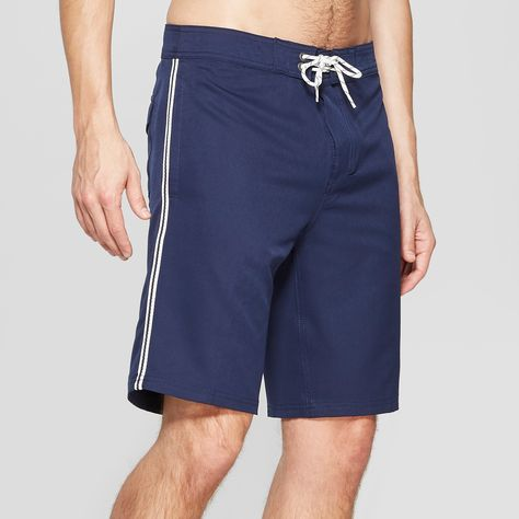 57b29bb200 Men's 10 Taped Board Shorts - Goodfellow & Co Navy 38, Navy Voyage ...