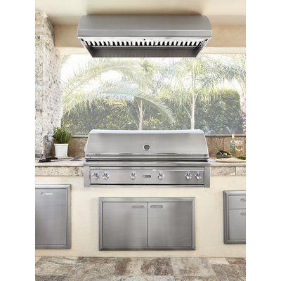Lynx 18 Duct Cover For 48 Hood Modular Outdoor Kitchens Outdoor Kitchen Design Range Hood