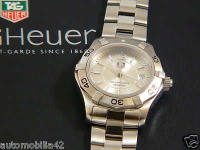 Near Mint TAG Heuer Aquaracer Ladies watch Stainless Steel Silver dial WAF1412