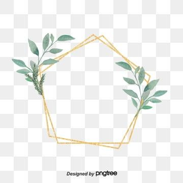Simple Bohemian Wind Golden Border Ins Wind Geometric Border Lovely Png Transparent Clipart Image And Psd File For Free Download Floral Border Design Flower Frame Graphic Design Background Templates