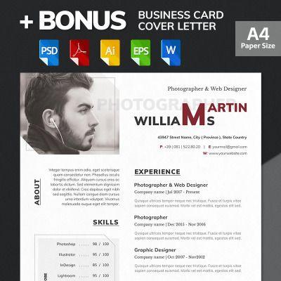 Martin Williams Photographer Web Designer Resume Template 65617 Web Designer Resume Resume Design Web Design