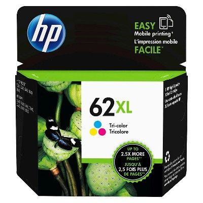 Hp 62xl Single Ink Cartridge Tri Color C2p07an Ink Cartridge
